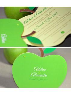 Faire-part de mariage sur mesure nature fruit creation L