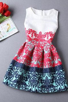 printing new spring and summer Jacquard was thin sleeveless vest dress bottoming skirt bud