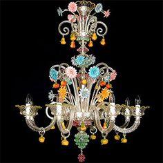 Nuestra colección de Arañas de Murano. Lámpara veneciana