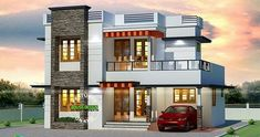 Modern House Design Plans Awesome ₹ 25 Lakhs Cost Estimated Kerala Home – luxury beach house plans Best Modern House Design, Latest House Designs, Duplex House Design, Duplex House Plans, House Front Design, Small House Design, Modern House Plans, House Plans With Pictures, House Design Pictures