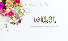 Wicket Letter a cute quirky little thing, with multi-case letters, unique pairing combos, accents, punctuation much more. A great font for nursery and kids' products. Use it for adding a fresh & unique look to company branding, logos, greetings, magazine layout, homeware, prints and invitations.