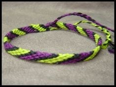 ▶ ► Friendship Bracelet Tutorial 1 - Beginner - The Candystripe (Chevron Base) - YouTube