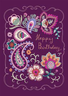 Leading Illustration & Publishing Agency based in London, New York & Marbella. Birthday Greetings Friend, Happy Birthday Wishes Cards, Happy Birthday Quotes, Happy Birthday Images, It's Your Birthday, Birthday Blessings, Birthday Stuff, Zentangle, Paisley