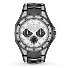 2f0fc0e8e91 Bulova Crystal Collection Men s 98C102 Quartz Black 43.5mm Bracelet Watch   black  bracelet