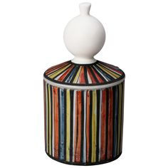 Roger Capron Vallauris Striped Ceramic Tall Covered Canister | From a unique collection of antique and modern ceramics at http://www.1stdibs.com/furniture/dining-entertaining/ceramics/