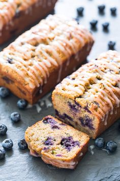 Healthy Zucchini Blueberry Bread | Get Inspired Everyday!