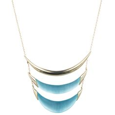 Vert D'Eau Tiered Crescent Pendant Necklace | Alexis Bittar