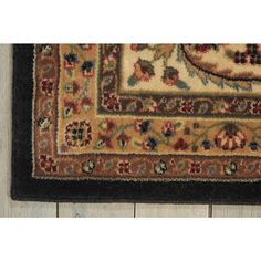 Nourison Persian Arts Black Area Rug x Traditional Area Rugs, Indoor Rugs, Rug Material, Power Loom, Rectangle Shape, Woven Rug, Persian, Bohemian Rug, Collection