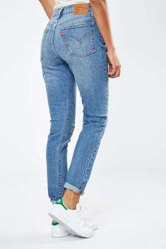 da83322327f0 jeans levi-s 501 skinny fit bleu used destroy femme skinny jeans femme Mode  Femme