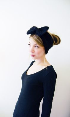 cute bow ear warmers