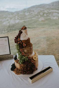 Cheese Tower Wedding Cake - Maureen Du Preez Photography | Essense of Australia Zita Gown | Rustic Marquee Wedding on Bosta Beach, Great Bernera Island, Outer Hebrides of Scotland | Biba House of Fraser Bridesmaid Dresses