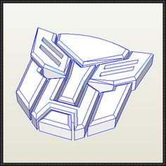 Transformers Autobot Logo Free Papercraft Download - http://www.papercraftsquare.com/transformers-autobot-logo-free-papercraft-download.html
