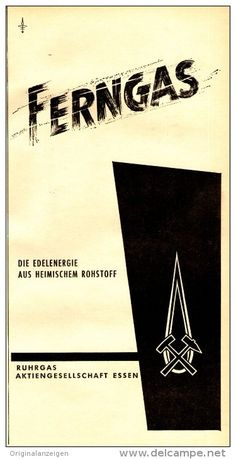 Original-Werbung/ Anzeige 1958 - FERNGAS / RUHRGAS - ca. 130 x 260 mm