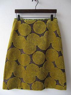 Mina Perhonen wool ball skirt