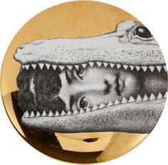 "Fornasetti In Crocodile Mouth"" Plate sur shopstyle.fr"