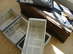 idea for display boxes on craft stall -