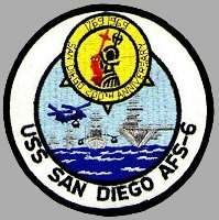 USS San Diego (AFS-6) Uss San Diego, Navy Chief, Us Navy Ships, Badges, Naval, Emblem, Submarines, Coast Guard, Battleship