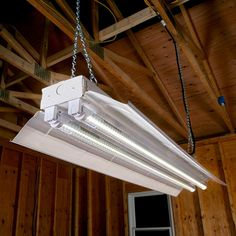 The price of LED light bulbs has fallen to the point where it finally makes sense to replace the fluorescent bulbs in your workshop with LED lights. Led Garage Lights, Led Shop Lights, Garage Lighting, Overhead Lighting, Shop Lighting, Led Projects, House Wiring, Led Fixtures
