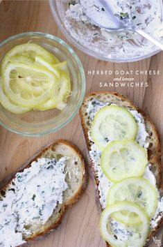 herbed goat cheese with lemon