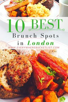 The 10 Best Brunch Spots In London. Travel tips for food in Europe.