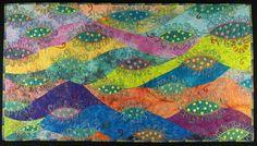 Handmade Art Quilt - AMOEBA by joystrings on Etsy https://www.etsy.com/listing/76613834/handmade-art-quilt-amoeba