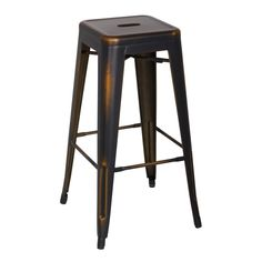 Oxford Metal Bar Stool- Set of 4 DISTRESSED COPPER