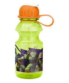 TMNT 14-Oz. Tritan Water Bottle #zulily #zulilyfinds.      One of his items on his wish list and his auntie gave it to him for Christmas 2015.