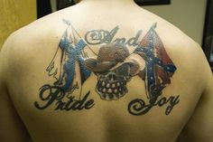 Pride And Joy with Rebel Flag - Cool Rebel Flag Tattoos, http://hative.com/30-cool-rebel-flag-tattoos/,