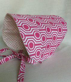 Toddler Sun Hat  BONNET  Sun Hat  Reversible Bonnet  by 4PennyGirl