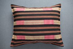 we love this bold woven pattern with gorgeous hits of pink. these pillows are created from a new heavy woven cotton textile made in Burma Myanmar. ...