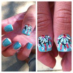 I did Natalie's nails:) dream catchers!