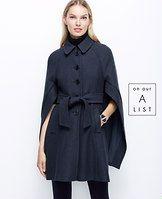 Dark blue wool cape