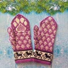Gray woolen mittens Knitted mittens for women with dog pattern image 8 Mittens Pattern, Dog Pattern, Knit Mittens, Mitten Gloves, Knitting Socks, Stitch Patterns, Knitting Patterns, Crochet Projects, Crochet Ideas