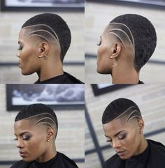 54 ideas for hair black short big chop Natural Hair Cuts, Natural Hair Styles, Shaved Hair Designs, Finger Wave Hair, Pelo Afro, Haircut Designs, Corte Y Color, Hair Tattoos, Fade Haircut