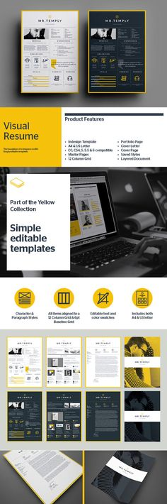 Mono Resume With Minimal Design Template Pinterest Creative - visual resume templates