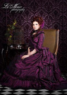 Taffeta Mina Victorian Bustle Gown Custom Colors
