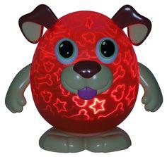 "NIB Playbrites 10"" Puppy Light Show Night Light Toy W/ 9pc Magic Fun Face #Playbrites"