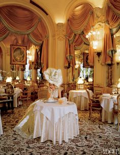 Beautiful and opulent shoot of Kate Moss at The Ritz in Paris, photographed by Tim Walker and styled by Grace Coddington for Vogue US April 2012 issue. Kate Moss is stunning as ever as she channels Marie Antoinette in  this decadent editorial.