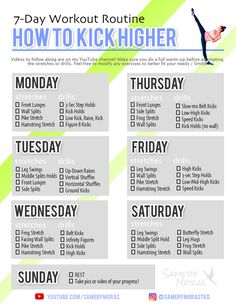 How to Kick Higher für Martial Arts / Taekwondo - Samery Moras - The Effective Pictures We Offer You Kung Fu Martial Arts, Martial Arts Workout, Martial Arts Training, Mixed Martial Arts, Martial Arts Women, 7 Day Workout, Gym Workout Tips, Boxing Workout, Mma Workout