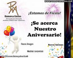 En @romarcaenvios ¡Están de fiesta! Felices por su #Aniversario #1. Síguelos y entérate de todo lo que te ofrecen.
