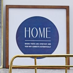'Home Is' Framed Textual Art