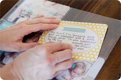 Handwriting tips: simple as that: Project Life 2013 + Using your own Handwriting