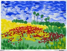 In the Style of van Gogh: Remembrance Day Painting Elementary Art Monet, Arte Van Gogh, Van Gogh Art, Remembrance Day Art, Fall Art Projects, Ecole Art, Thinking Day, Famous Art, Impressionist Art