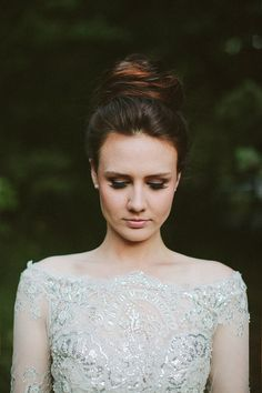 elegant high bun wedding updo | Hair and Make-up by Steph