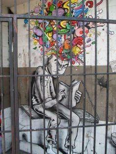 Graffiti street art colours . Freedom comes from inside.