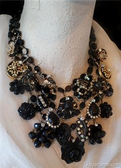 Colossal Necklace. Black is WEAR it's AT. Send Me YouR by KayAdams