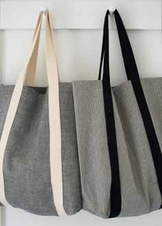 Because you can never have too many totes.  Molly's Sketchbook: Railroad Tote - The Purl Bee