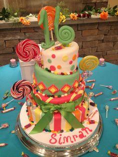 Sweet 16 birthday cake candy theme