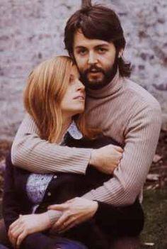 "Paul McCartney and Linda Eastman... ""Until death do us part"""