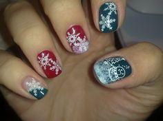 Unghie natalizie 2012 fai da te fiocchi di neve chic